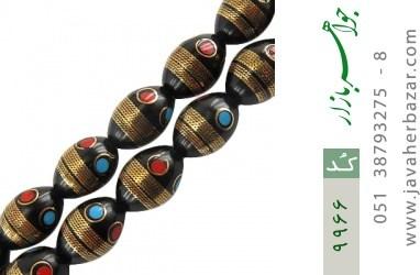تسبیح کوک (کشکول) 33 دانه درشت مرصع به مس - کد 9966