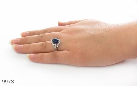 انگشتر نقره درخشان طرح ساغر زنانه - عکس 7
