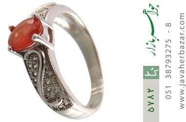 انگشتر یاقوت قرمز خوش رنگ طرح نگار زنانه