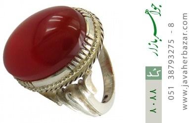 انگشتر عقیق سرخ خوش رنگ مرغوب درشت مردانه