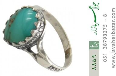 انگشتر فیروزه نیشابوری خوش رنگ کلاسیک مردانه