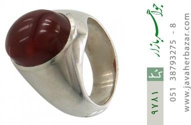 انگشتر عقیق قرمز یمن خوش رنگ مرغوب مردانه