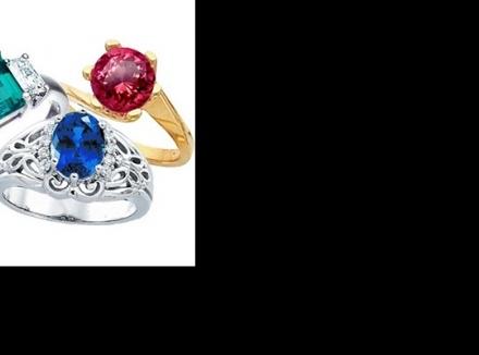 حلقههای نامزدی مزین به سنگهای قیمتی