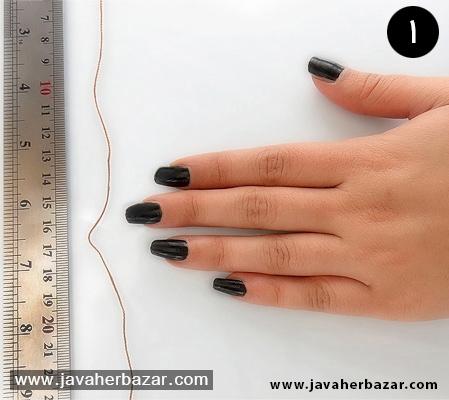 راهنمای تصویری تعیین سایز انگشتر