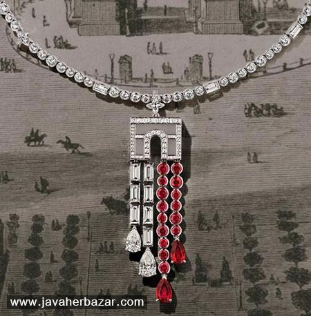 نقشه پاریس در جواهرات برند Louis Vuitton