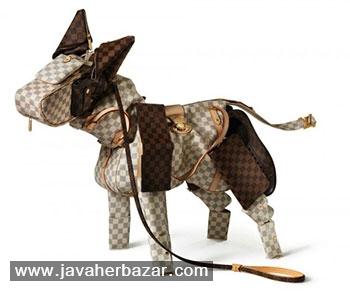 مجسمههایی از حیوانات، با کیفهای لوییس ویتون