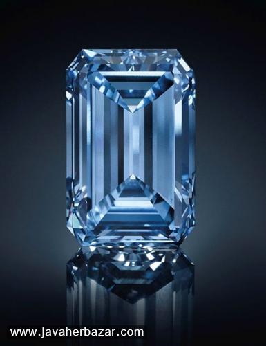 الماس آبی اپنهایمر بلو در حراجی کریستی
