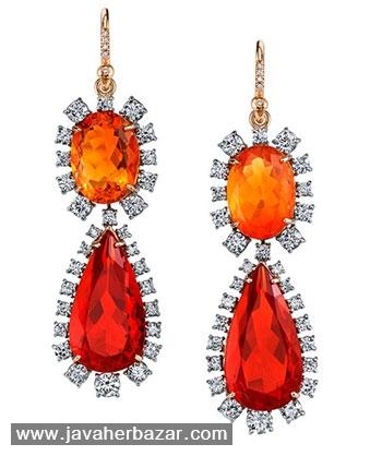 زیباترین جواهرات ساخته شده با اپال آتشین
