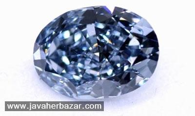 پرداه برداری از انگشتر الماس Fancy vivid blue diamond