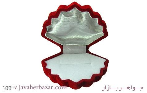 تصویر جعبه جواهر مخملی طرح صدف - شماره 3