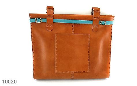 عکس کیف چرم طبیعی دست دوز سایز درشت زنانه
