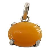 مدال نقره عقیق زرد شرف الشمس دست ساز