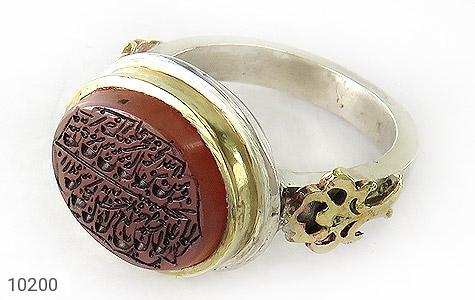 انگشتر نقره عقیق یمن مرغوب حکاکی ومن یتق الله مردانه دست ساز - 10200