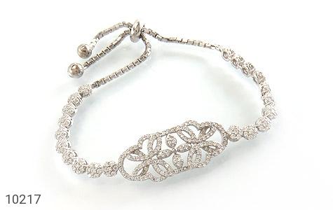 دستبند نقره درشت طرح پرنسس زنانه - 10217