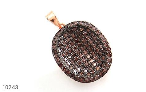 مدال نقره درشت نگین سنتاتیک - 10243