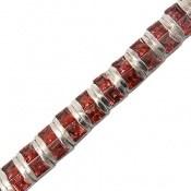 دستبند یاقوت گارنت خوش رنگ مرغوب زنانه