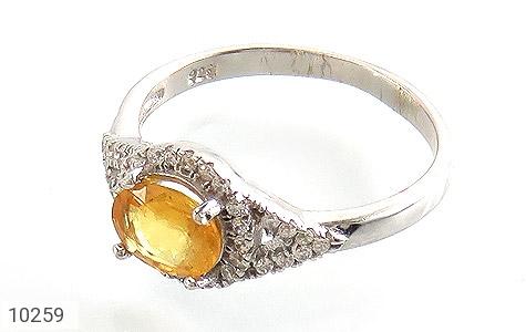 انگشتر نقره یاقوت آفریقایی زرد یی درخشان زنانه - 10259