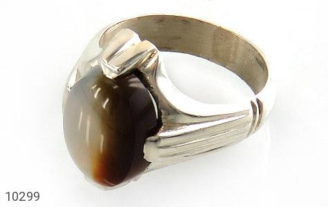 انگشتر نقره عقیق یمن طبیعی و خاص مردانه دست ساز - 10299