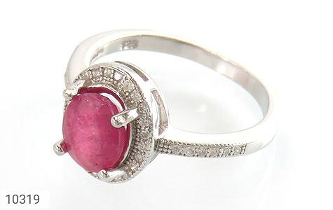 انگشتر نقره یاقوت سرخ طرح آویسا زنانه - 10319