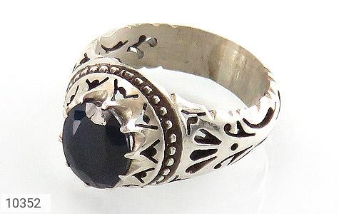 انگشتر نقره یاقوت آفریقایی کبود یی مرغوب مردانه دست ساز - 10352