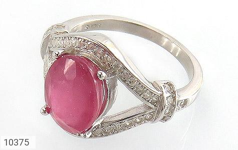 انگشتر نقره یاقوت سرخ طرح رونیکا زنانه - 10375
