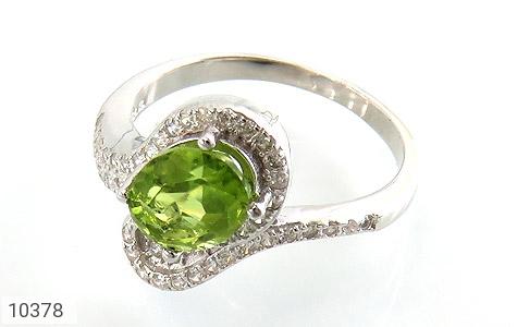 انگشتر نقره زبرجد خوش رنگ زنانه - 10378