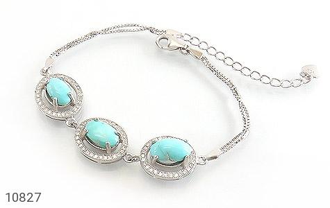 عکس دستبند فیروزه نیشابوری ارزشمند و خوش طبع زنانه