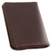 کیف چرم طبیعی طبیعی دست دوز رنگ تیره دست ساز