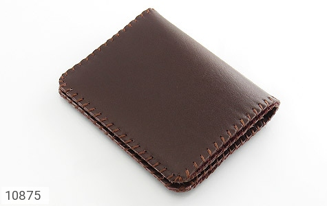کیف چرم طبیعی طبیعی دست دوز رنگ تیره دست ساز - 10875