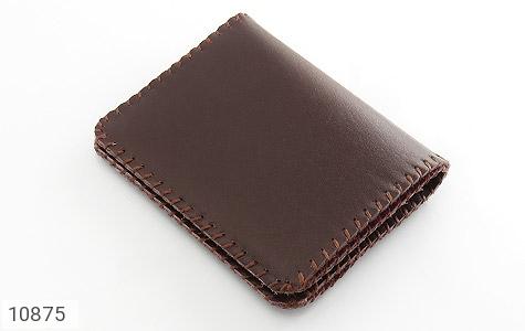 کیف چرم طبیعی طبیعی دست دوز رنگ تیره - 10875