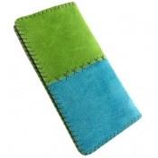 کیف چرم طبیعی اشبالت دو رنگ دست دوز زنانه
