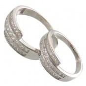 حلقه ازدواج نقره طرح هانا