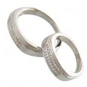 حلقه ازدواج نقره طرح تابان