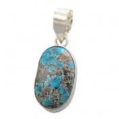 مدال فیروزه نیشابوری آبـی خوش رنگ