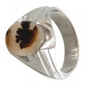 انگشتر نقره عقیق شجر طرح طبیعی درخت مردانه