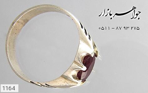 عکس انگشتر نقره یاقوت سرخ آفریقایی صفوی