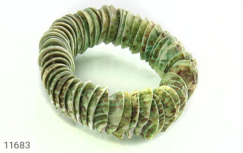 النگو لانه زنبوری دستبند صدف درشت صنایع دستی زنانه کد 11683