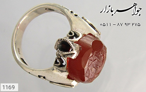 عکس انگشتر نقره عقیق علی(ع) فاطمه(س)