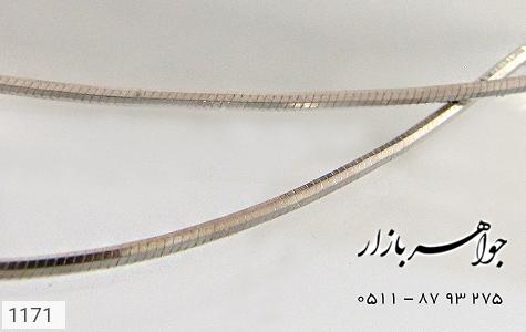 عکس زنجیر نقره ایتالیایی 45 سانتیمتری