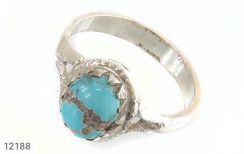 انگشتر نقره فیروزه نیشابوری زیبا هنر دست - 12188