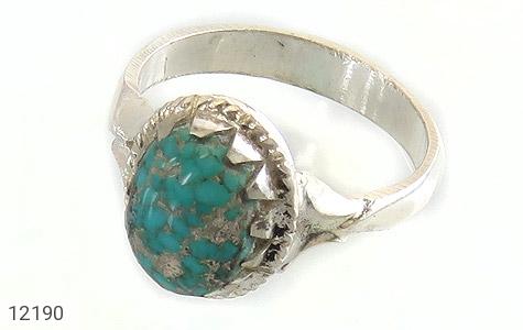 انگشتر نقره فیروزه نیشابوری هنردست دست ساز - 12190