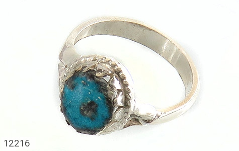 انگشتر نقره فیروزه نیشابوری خوش طبع طرح سنتی - 12216