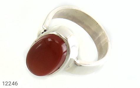 انگشتر نقره عقیق یمن قرمز خوش رنگ دست ساز - 12246