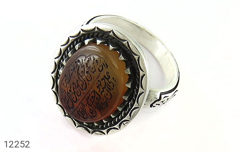 انگشتر نقره عقیق یمن حکاکی ومن یتق الله - 12252