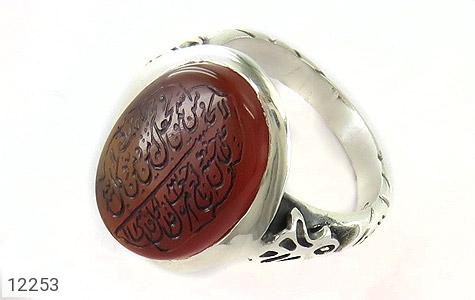 انگشتر نقره عقیق یمن حکاکی ومن یتق الله مردانه - 12253