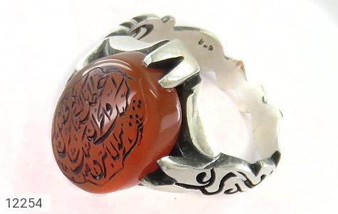 انگشتر نقره عقیق یمن حکاکی سوره مبارکه کوثر مردانه - 12254
