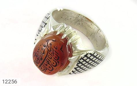 انگشتر نقره عقیق یمن حکاکی ماشاءالله کبیر مردانه - 12256