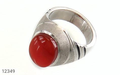 انگشتر نقره عقیق یمن قرمز خوش رنگ مردانه - 12349