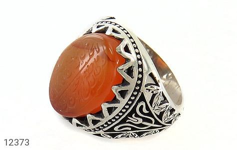 انگشتر نقره عقیق یمن حکاکی ومن یتق الله مردانه - 12373