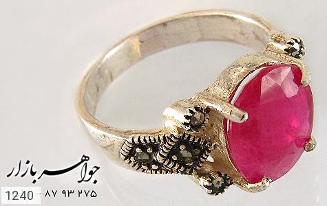 عکس انگشتر یاقوت سرخ آفریقایی زنانه
